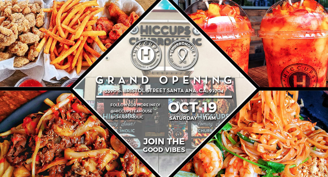 Flyer for Santa Ana location grand opening